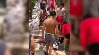 getlinkyoutube.com-VIDEO: Mujer cae y se desangra en las Grutas de Tolantongo