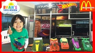 getlinkyoutube.com-McDonald Indoor Playground for kids Hot Wheels Cars DC Comics Super Heroes Happy Meal Surprise Toys