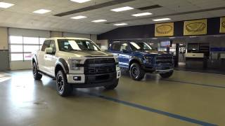 getlinkyoutube.com-2017 FORD RAPTOR VS ROUSH F-150 OFFROAD TRUCK SUPERCHARGED 600hp 650hp 17 LARIAT ecoboost turbo