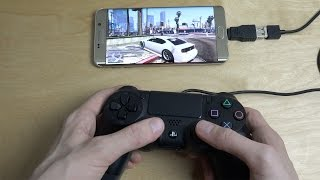 GTA 5 Samsung Galaxy S6 Edge Plus NVIDIA GameStream PS4 Controller Gameplay!