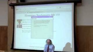 Introduction to Biochemistry Lecture by Kevin Ahern, Part 1 of 4