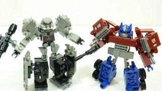 getlinkyoutube.com-KRE-O Transformers Battle Changers Optimus Prime vs Megatron