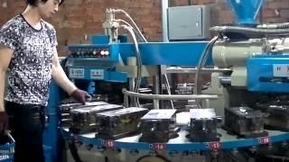 getlinkyoutube.com-Термопласт-автомат-круговой экструдер для изготовления различных изделий