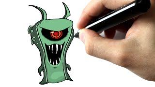 getlinkyoutube.com-Dessine en moins de #5 minutes la slug ghoul doc - TUTORIEL - SLUGTERRA - CHRIS DESSINE