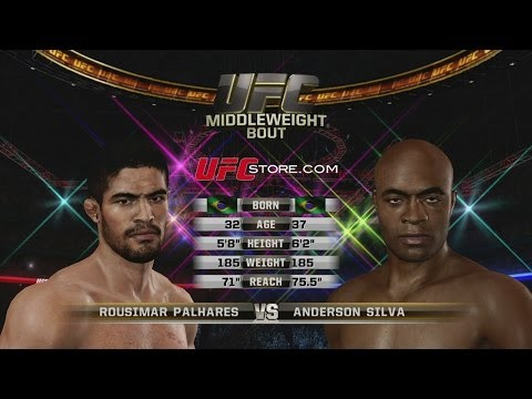 Rousimar Palhares vs. Anderson Silva in UFC Undisputed 3 Fight 2