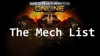 #MWO - Mech List for Beginners