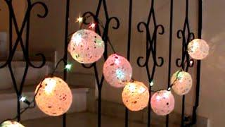 getlinkyoutube.com-Artesanato: Bolas de natal feitas com linha de crochet ou barbante