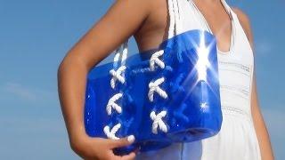 getlinkyoutube.com-Bolso marinero playero con botellas de plástico
