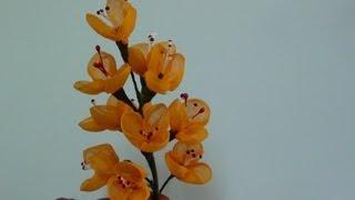 getlinkyoutube.com-Diy Organdy Flower Bouquet