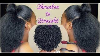 getlinkyoutube.com-Natural Hair| Shrunken to Straight ft. SimplyStraightBrush