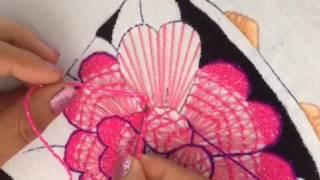 178.- Bordado Fantasia  flor de niña del jarrón