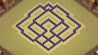 getlinkyoutube.com-Clash of Clans Town Hall 7 Defense (CoC TH7) BEST War Base Layout Defense Strategy