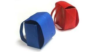 getlinkyoutube.com-Cách gấp, xếp cái cặp sách bằng giấy origami - Video hướng dẫn
