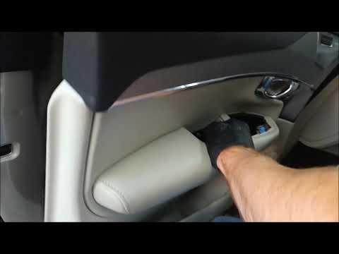 Как снять обшивку двери Вольво XC90 и ручку двери, а также удаляем вмятину на двери