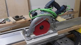 getlinkyoutube.com-How to make Aluminum Guide Rail for your Circular Saw.
