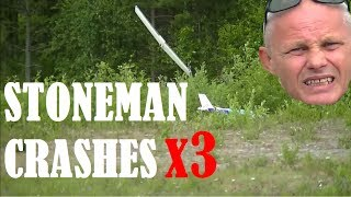 getlinkyoutube.com-Stoneman Crashes x3 - RC flying and crashes