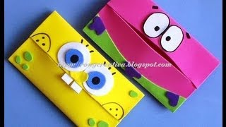 getlinkyoutube.com-BOB ESPONJA PORTAKLEENEX INFANTIL/ SpongeBob carries scarves DIY