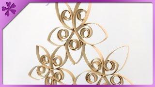 DIY Cardboard tube hanging decoration (ENG Subtitles) - Speed up #227