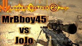getlinkyoutube.com-MrBboy45 & JoJo - 1 vs 1 au snipe sur MW2 (avec trickshots foireux)
