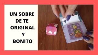 getlinkyoutube.com-TARJETA SOBRE DE TE// DETALLE PARA NOVIO// SAN VALENTIN// 14 DE FEBRERO