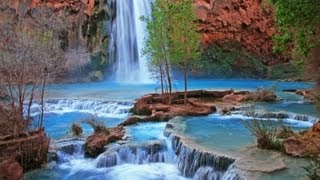 """""""Havasupai Indian Waterfall Relaxation"""" Nature Relaxation Video Classic"""