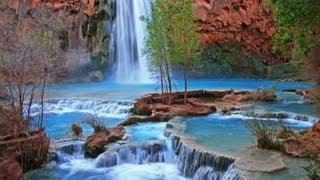 "getlinkyoutube.com-""Havasupai Indian Waterfall Relaxation"" Nature Relaxation Video Classic"