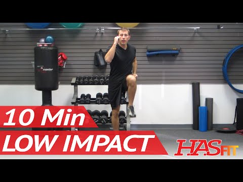 10 Min Low Impact Aerobic Workout - Low Impact Cardio Workout for Beginners - Beginner Exercises
