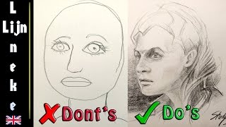 How to draw a Portrait - Part 1- do's and don'ts drawing faces
