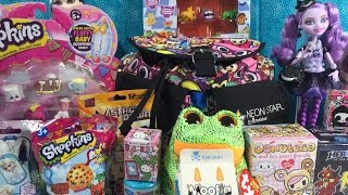 getlinkyoutube.com-Moofia Beanie Boos Donutella Moshi Monster Shopkins Plush Surprise Tokidoki Backpack Unboxing