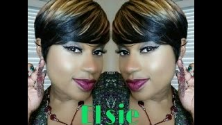getlinkyoutube.com-♥♥Styling this Shorty without heat! Meet Elsie by Freetress Equal