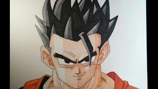 getlinkyoutube.com-Como dibujar a Gohan Definitivo/Místico paso a paso | Dragon ball Z