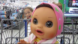 getlinkyoutube.com-Shopping With Baby Alive Real Surprises Pees and Poops Baby Doll