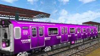 """getlinkyoutube.com-OpenBVE: R213 """"Soul Train"""" (T) Train in testing"""