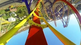 getlinkyoutube.com-Nitro Roller Coaster POV Adlabs Imagica B&M Floorless Coaster