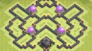 getlinkyoutube.com-*Clash Of Clans* Town Hall 8 TROLL Base With AIR SWEEPER!