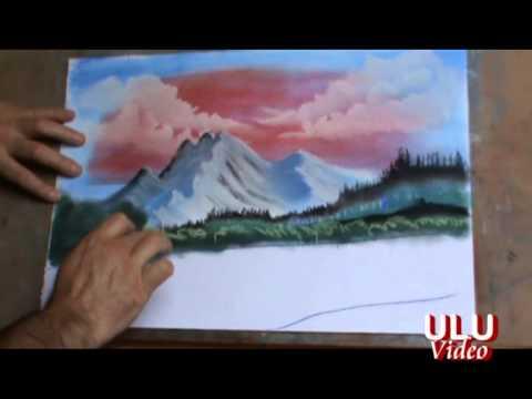Pastel boya ve parmakla resim çizim tekniği -1