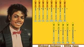 getlinkyoutube.com-Michael Jackson - Billie Jean en Flauta Dulce con Notas