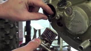 Honda CRF450 Dirt bike. How to change Your Honda CRF450 oil. Do it right!