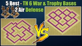 getlinkyoutube.com-Clash of Clans - Top 5 Best Town hall 6 Defense (Th6) War Base & Trophy Base with 2 Air Defenses