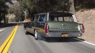 getlinkyoutube.com-Big Burnouts: 1964 Pontiac Catalina Safari - /BIG MUSCLE