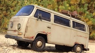 getlinkyoutube.com-VW Transporter T2 (Dickie 1:14 Toy) - Rusty RC car