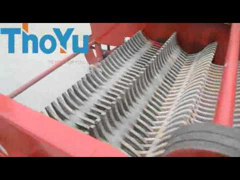 impeller type harvesting machine