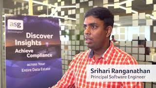 Principal Software Engineer, Srihari Ranganathan describes culture at ASG
