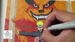 getlinkyoutube.com-Drawing Naruto and Kurama ナルト 九喇嘛