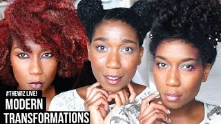 getlinkyoutube.com-#TheWiz LIVE! 5 Modern Character Transformations | Natural Hair