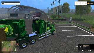 getlinkyoutube.com-Farming Simulator 2015 Mods - Ford F-450, Kenworth, John Deer trailer, CAT