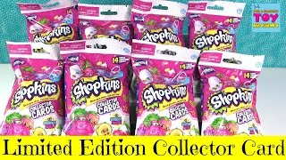 getlinkyoutube.com-Shopkins Limited Edition Season 4 Collector Cards Blind Bag Packs Opening Toy Review | PSToyReviews