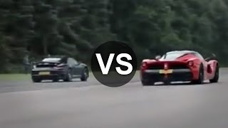 getlinkyoutube.com-Ferrari LaFerrari Vs Porsche 911 Turbo S Drag Race - DRAGINFO