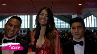 Fajar, Maria Selena, Hendri Take [Indonesia] - Red Carpet (Influence Asia 2015)