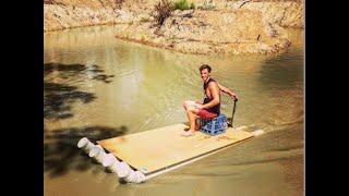 getlinkyoutube.com-How to build cheap DIY Fishing Boat (PVC Pipe Boat)